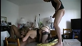 You are watching his wife get fucked by 2 guys indalina.