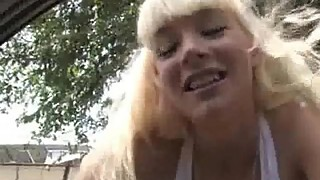 Nasty white milf loves black