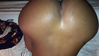Big booty ebony wife cream interracial