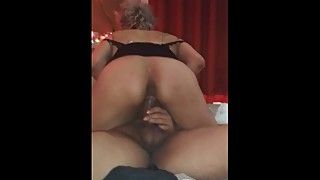 Latina wife riding tf out of my hubby until he cums