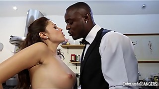 Interracial kitchen sex shows, uk housewife ava dalush black dick