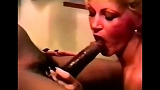 Trashy mature woman with huge black penises. (vs)