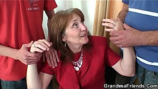 At the office threesome fuck