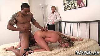 Cuckold helplessly watch black dick drilling my wife amanda blow
