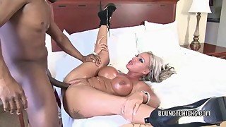 Brooke jameson is accompanied by a large black penis