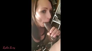 Amateur, wife, huge black cock blowjob selfie, which does not invite