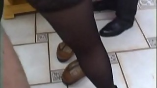 French housewife gangbanged stockings