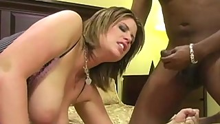 Pawg turn on two big black dick