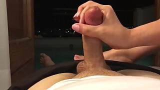 Hotwife cuckold gives public handjob by the sph, dirty talk