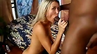 Skinny blonde fucked by a big black dick