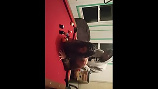 Wife takes big black cock on billiards