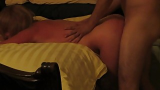 Cuckold husband watch his dog after