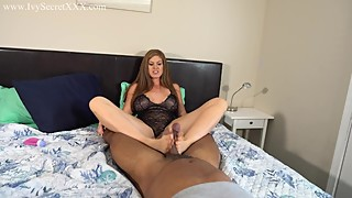 Cuckolding wife gives two tabs a footjob - ivy the secret