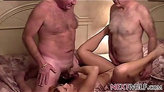 Old pervert fucking, hot, housewife