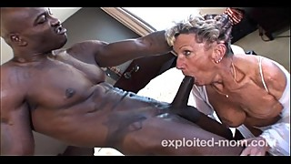 Old granny who can barely a big black cock in this interracial video