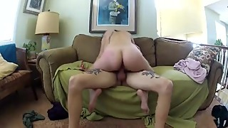 Cuck movies, preggo wife takes the shock