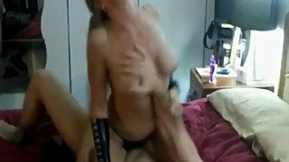 Sexy blonde big titted wife and husband visit of a stranger