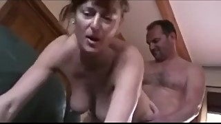 British cuckhold husband watches his wife fuck another guy