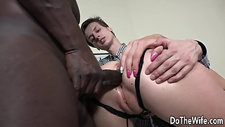 Ass white wives big cock while her poor husband watch a black man and jam