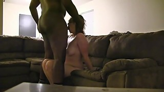 Cheating wife fucked deep for the ball-a big black cock