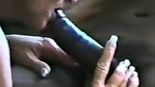 Trashy mature woman with massive black dick 2